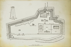 Gaur. Plan of Fort. Enlarged from Creighton's map of 1801 [lithograph].